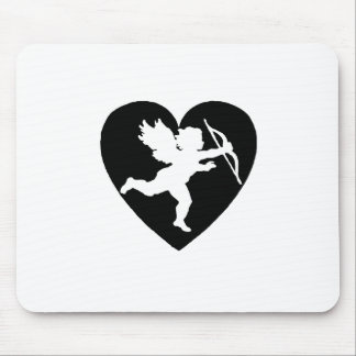 Valentine s Day Cupid with Heart Mousepad