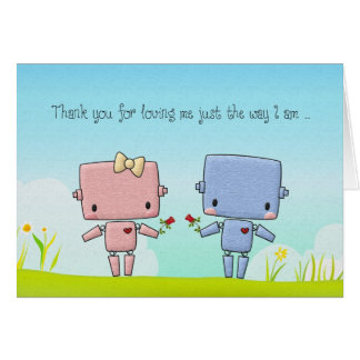 Valentine s Day Cute Robot Couple Cards