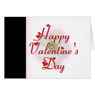 Valentine' s Day Flower Greeting Card