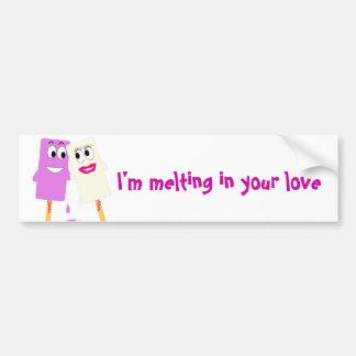 Valentine's Day Funny ice cream Bumper Sticker Car Bumper Sticker