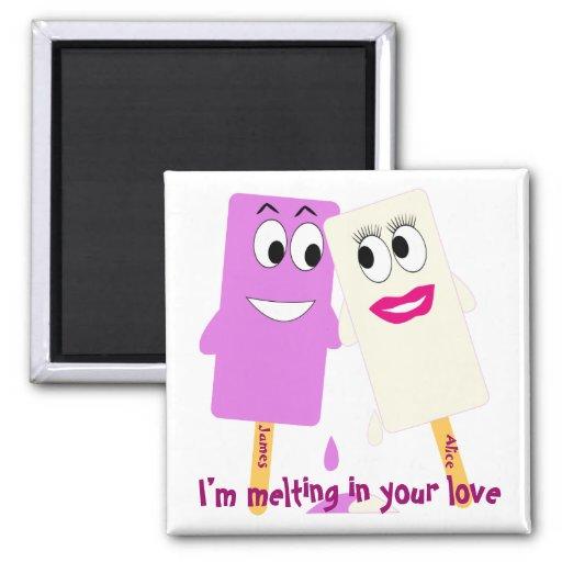 Valentine's Day Funny ice cream Magnet