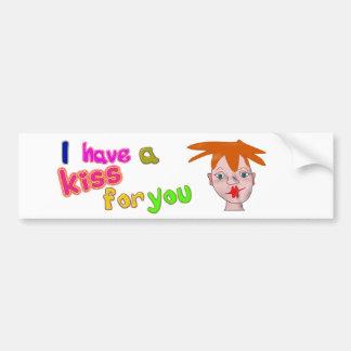 Valentine's Day funny kiss Bumper Sticker