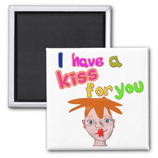 Valentine's Day funny kiss Magnet