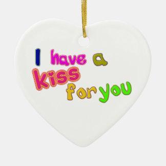 Valentine's Day funny kiss Ornament