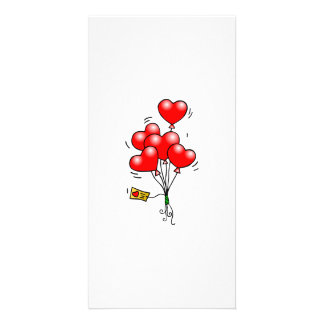 Valentine s Day Heart Balloons Photo Card Template
