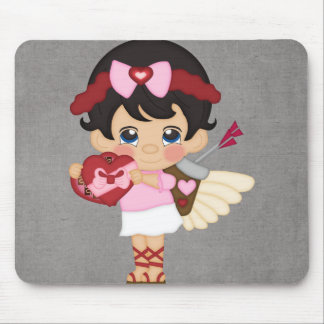 Valentine s Day Heart Cupid Mouse Pad
