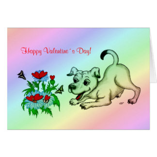 Valentine´s Day, Heart, Flower, Puppy & Butterfly Greeting Cards