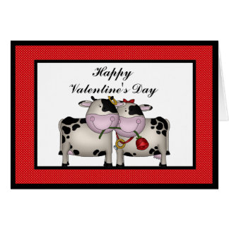 Valentine s Day Love Cows Greeting card