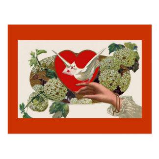 Valentine s Day Love Letter Heart Postcard