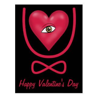 Valentine s Day love you forever Eye heart U etern Post Card