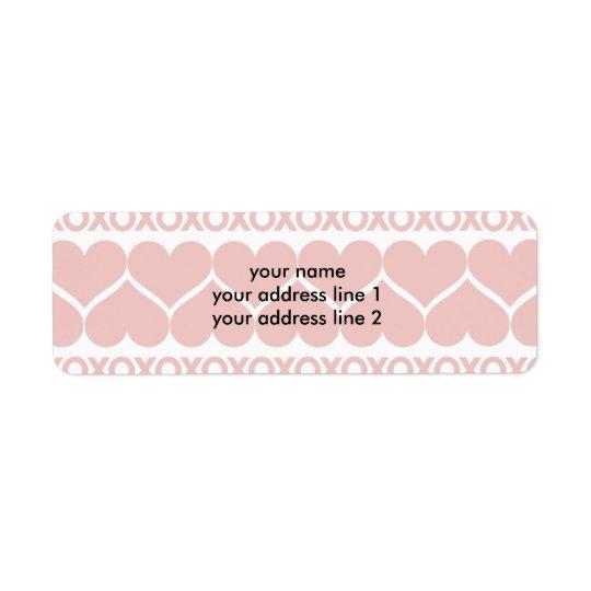 Valentine's Day Pattern Return Address Label