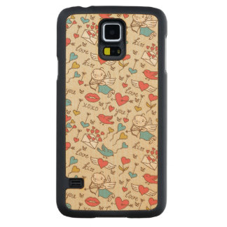 Valentine s Day Pattern with Cupid Carved® Maple Galaxy S5 Case
