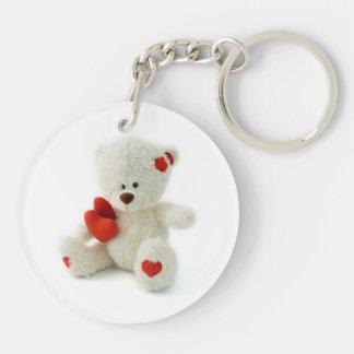 Valentine's Day Teddy Bear Keychain