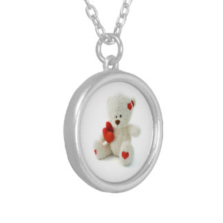 Valentine's Day Teddy Bear Necklace