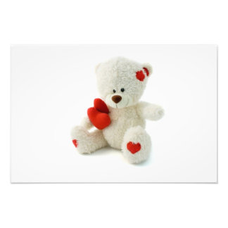 Valentine's Day Teddy Bear Photo Print