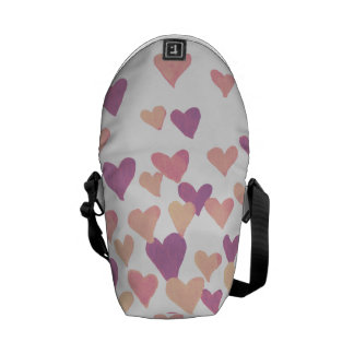 Valentine's Day Watercolor Hearts – pastel pink Commuter Bags