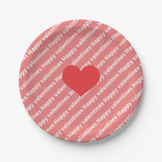 Valentine 's Heart Paper Tray Paper Plate