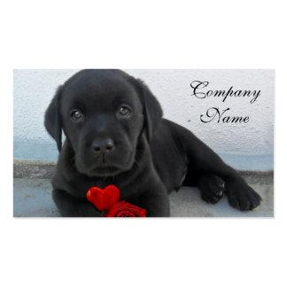 Valentine s labrador puppy business card template