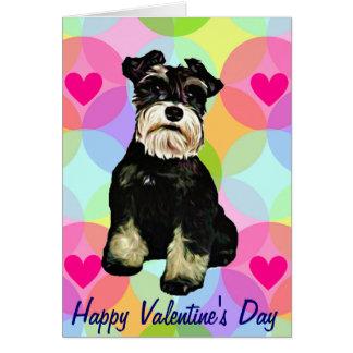 Valentine Schnauzer Dog Greeting Card