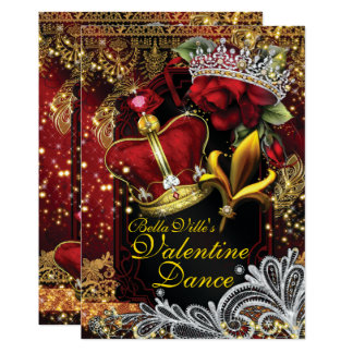 Valentine School Homecoming Prom Dance Card