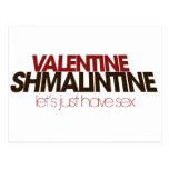 Valentine Shmalintine Post Cards