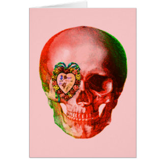 Valentine Skull Greeting Card