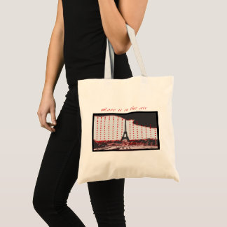 """Valentine special """"Love is in the air"""" tote bags"""