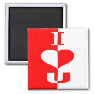 Valentine special square magnet