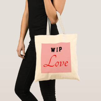"Valentine Special ""WIP Love"" Tote Bag"