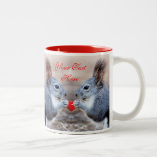Valentine Squirrels Add Your Own Text Mug Template
