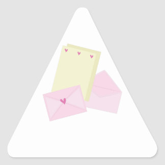 Valentine Stationary Triangle Sticker