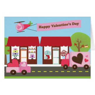 Valentine Street 5x7 Greeting Card