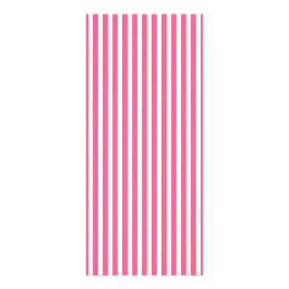 Valentine Stripes in Midi Pink and White Customized Rack Card