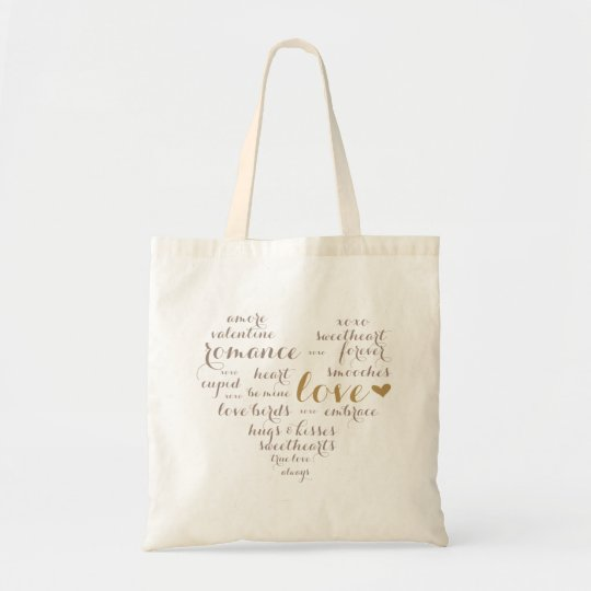 Valentine Subway Art Love Tote Welcome Bag