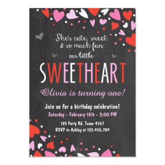 Valentine Sweetheart Birthday Party Invitation