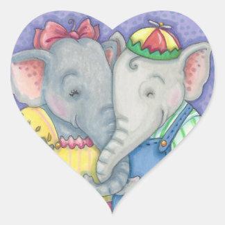 Valentine Sweethearts ELEPHANT STICKERS *Customize