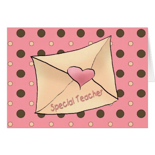 Valentine Teacher Card