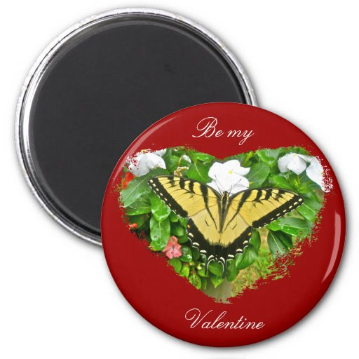 Valentine Tiger Swallowtail Butterfly Items Fridge Magnets