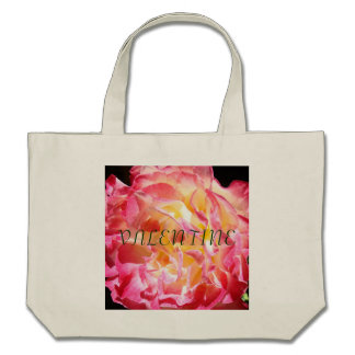 VALENTINE tote bags Bright Pink Rose Totes