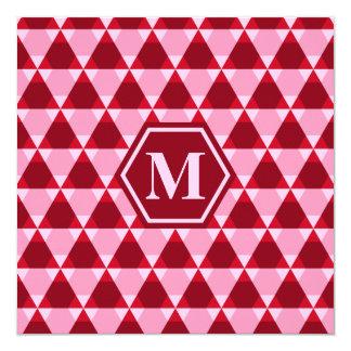 Valentine Triangle-Hex Invitation