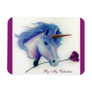Valentine Unicorn Rectangular Photo Magnet
