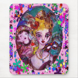 VALENTINE VENETIAN MASQUERADE MASKS MOUSE PAD
