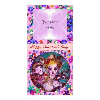 VALENTINE VENETIAN MASQUERADE MASKS PHOTO CARD