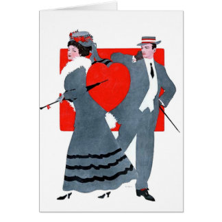 Valentine Vintage Couple Card