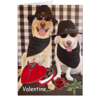 Valentine, we're two of a kind! greeting card