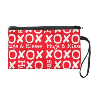 Valentine Wristlet - Hugs and Kisses