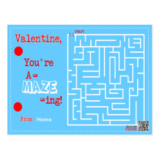 Valentine You're A-MAZE-ING Postcard
