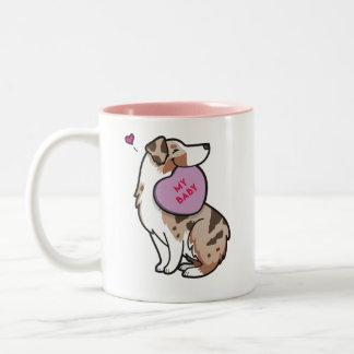 Valentine's 2015-Australian Shepherd-TP Red Merle Two-Tone Coffee Mug