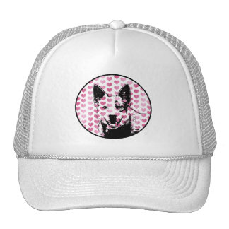 Valentines - Australian Cattle Dog Silhouette Hat