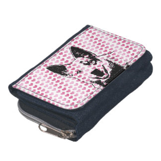Valentines - Australian Cattle Dog Silhouette Wallets
